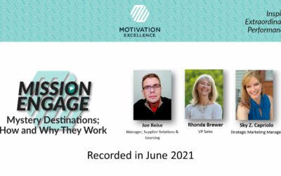 Mission Engage; Mystery Destinations, How and Why they Work